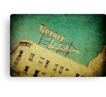 1926 Wilshire Royale Art Deco Vintage Sign  Canvas Print