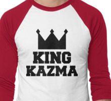 King Kazma Black Men's Baseball ¾ T-Shirt