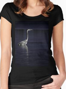 Great Blue Heron 2 Women's Fitted Scoop T-Shirt