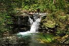 Splashes of Sunlight On Upper Twin Falls by Gene Walls