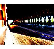 Dark Wooden Tunnel Photographic Print