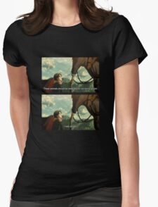levi spaghetti and his neigh neigh friend Womens Fitted T-Shirt