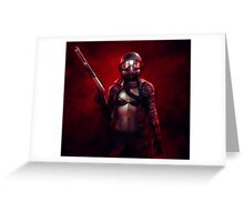 Red Apocalypse Greeting Card