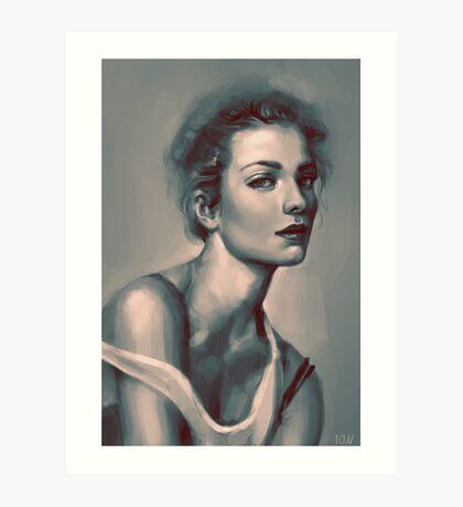 Model Portrait Art Print