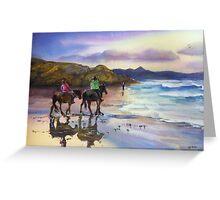 Beach Ride Byron Bay Greeting Card