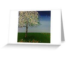 Squiggle Tree Greeting Card