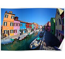 Fisherman's Island Burano, an island of colors Poster