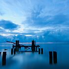Broken Dock at Sunrise in Eastpoint Florida by thatche2