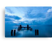 Broken Dock at Sunrise in Eastpoint Florida Canvas Print