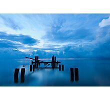 Broken Dock at Sunrise in Eastpoint Florida Photographic Print