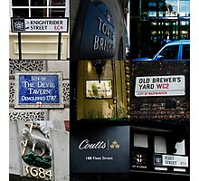London Signs Photographic Print