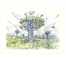 La Citta' Arborea!  Art Print