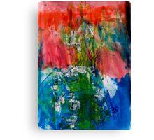 Clown on the Blue Elephant Canvas Print