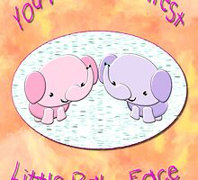 Cutest Baby Face greetings card by Dennis Melling