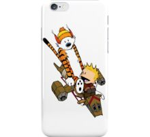 captain calvin and hobbes iPhone Case/Skin