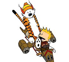 captain calvin and hobbes by DinaPurifoy
