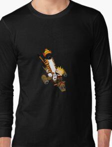 captain calvin and hobbes Long Sleeve T-Shirt