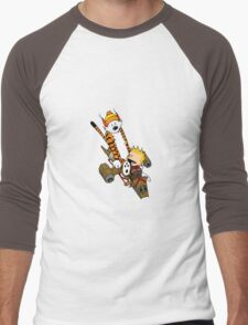 captain calvin and hobbes Men's Baseball ¾ T-Shirt