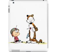 Calvin And Hobbes playing iPad Case/Skin