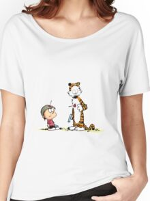 Calvin And Hobbes playing Women's Relaxed Fit T-Shirt