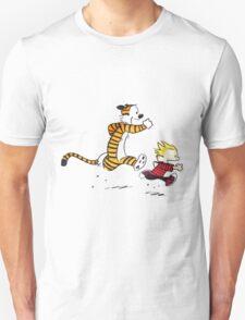 Calvin And Hobbes runner Unisex T-Shirt