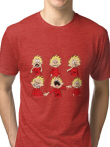 calvin expression yucks Tri-blend T-Shirt
