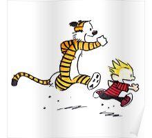Calvin And Hobbes runner Poster