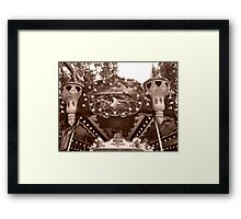 Detail of the Jules Verne Carrousel Framed Print