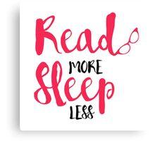 Read/Sleep 2 Canvas Print