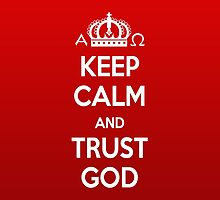 Religious Christian iPhone 6s Case Cover Keep Calm And Trust God Red by Lana Wynne