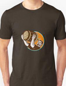 Bartender Pouring Drinking Keg Barrel Beer Retro Unisex T-Shirt
