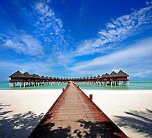 Idyllic Symmetry. Water Villas. Maldives by JennyRainbow