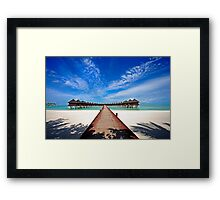Idyllic Symmetry. Water Villas. Maldives Framed Print