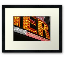 American Diner light bulbs signage Framed Print