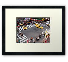 Times Square crossroad tilt shift Framed Print