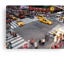 Times Square crossroad tilt shift Canvas Print