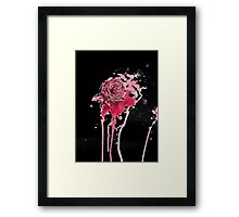 Blood Rose (Black) Framed Print