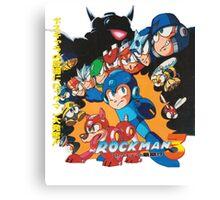 Mega Man 3 Japanese Ad art (Rockman 3) shirt NES / Famicom Canvas Print
