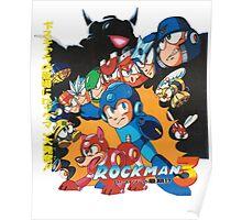 Mega Man 3 Japanese Ad art (Rockman 3) shirt NES / Famicom Poster