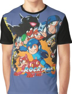 Mega Man 3 Japanese Ad art (Rockman 3) shirt NES / Famicom Graphic T-Shirt