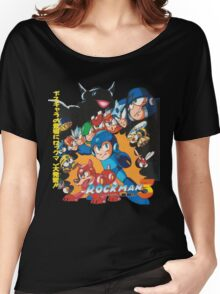Mega Man 3 Japanese Ad art (Rockman 3) shirt NES / Famicom Women's Relaxed Fit T-Shirt