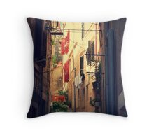 Stairs with view Throw Pillow