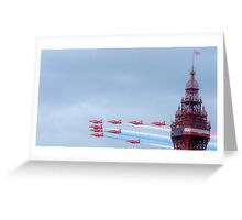 Red Arrows at Blackpool Greeting Card