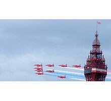 Red Arrows at Blackpool Photographic Print