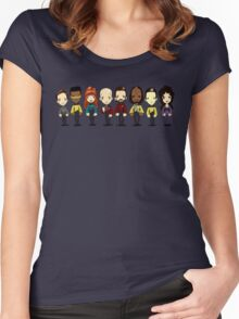 Space... The final frontier. These are the voyages of the starship Enterprise Women's Fitted Scoop T-Shirt