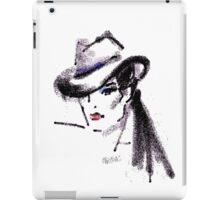 Lady in hat fedora iPad Case/Skin