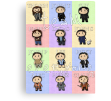 Team Everyone Richard Armitage Characters - With Text Canvas Print