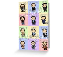 Team Everyone Richard Armitage Characters - With Text Greeting Card