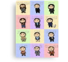 Team Everyone Richard Armitage Characters  - Without Text Canvas Print