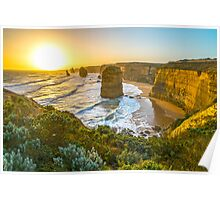 Sunset at the Twelve Apostles Poster